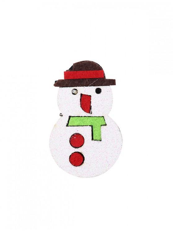 shops Christmas Snowman Glitter Brooch - RED