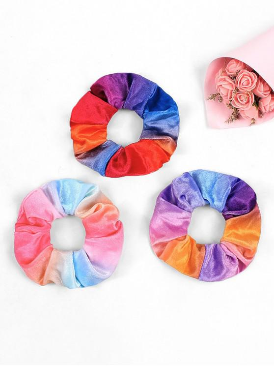 best 3Pcs Ombre Color Velour Scrunchies - MULTI-A