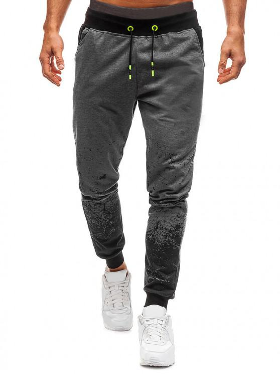 trendy Splatter Ink Casual Jogger Pants - DARK GRAY M