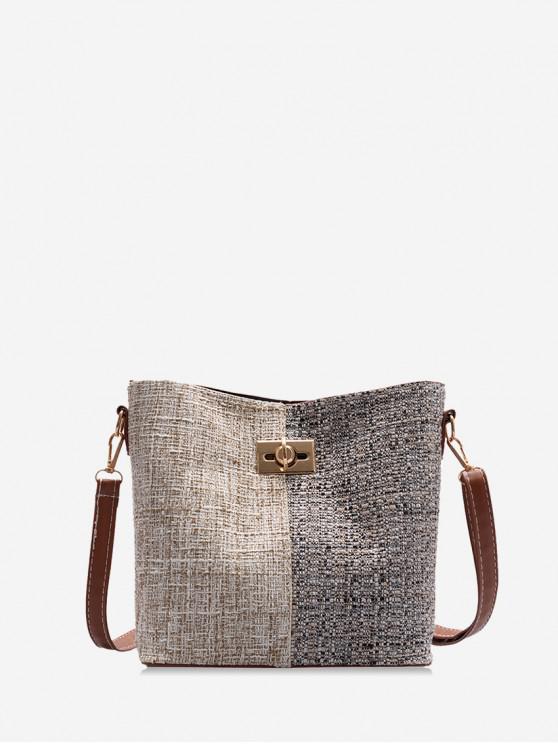 sale Jointed Woolen Tote Bag - TAN