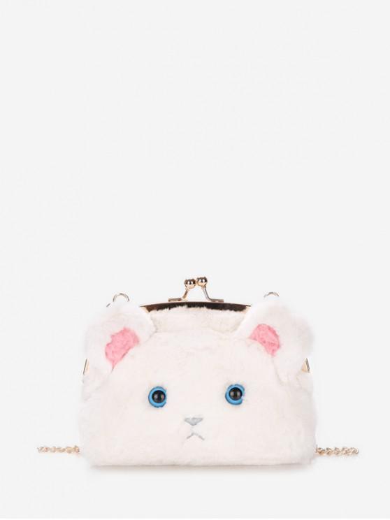 womens Chain Cartoon Face Shoulder Bag - MILK WHITE