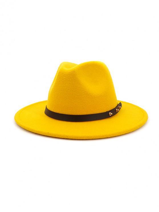 الشتاء الصلبة حزام تصميم فيدورا - الأصفر