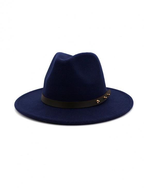 Дизайн пояса Зимняя Одноцветная Шляпа - Синий