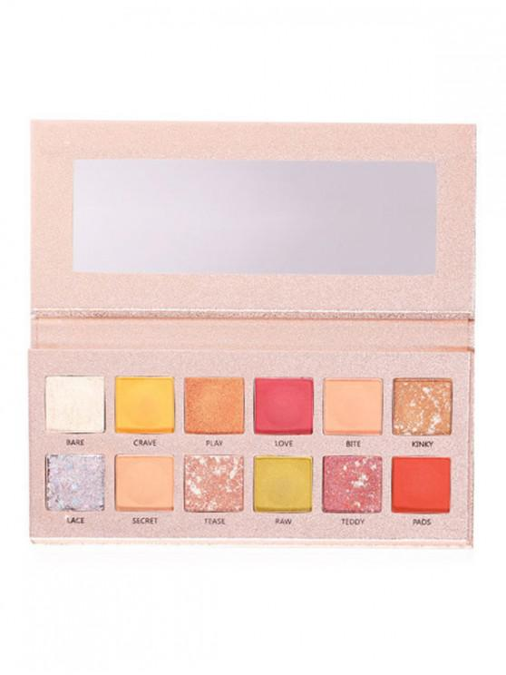 womens Waterproof 12 Color Makeup Eyeshadow Palette - MULTI-A