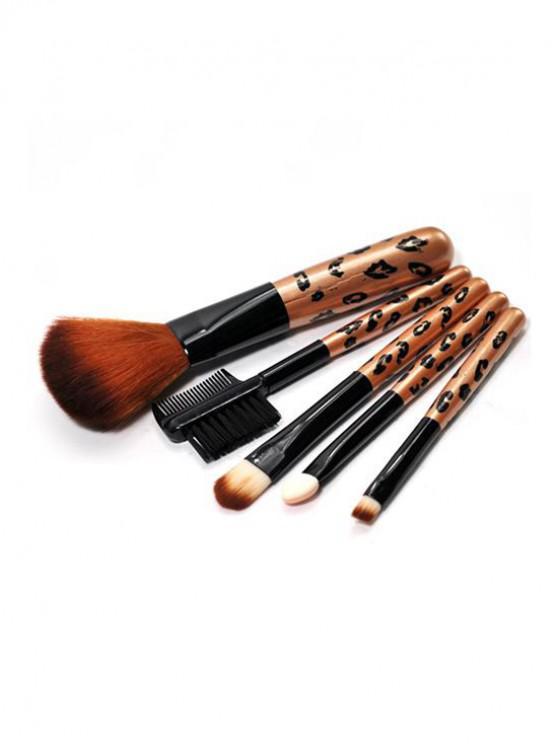 Ensemble de Brosse de Maquillage à Poudre 5 Pièces - Transparent