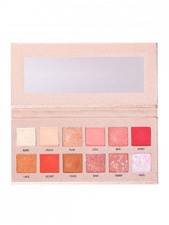 Palette de Fard à Paupières de Maquillage Imperméable 12 Couleurs - Multi-B