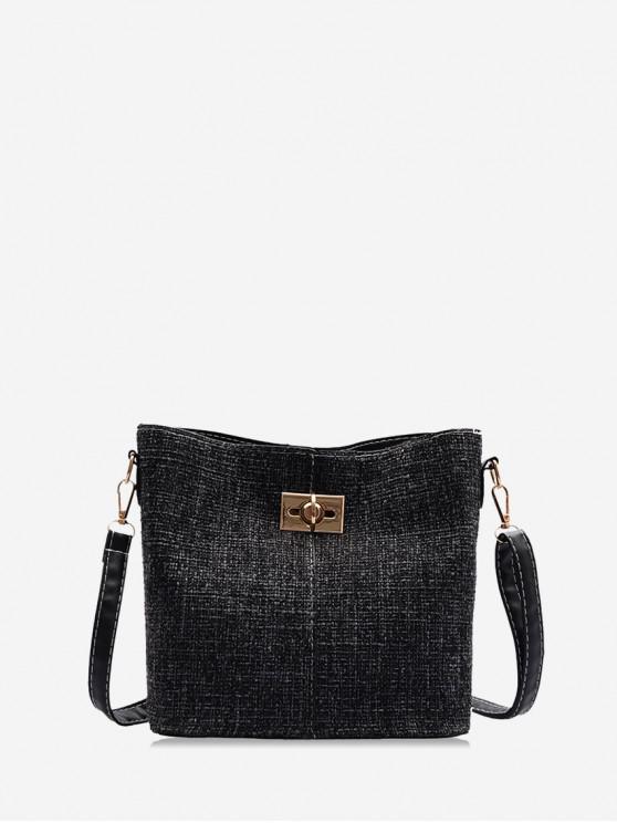 best Jointed Woolen Tote Bag - BLACK