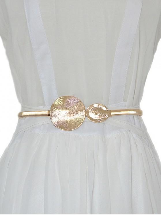 new Round Metal Spring Waist Chain Belt - GOLD