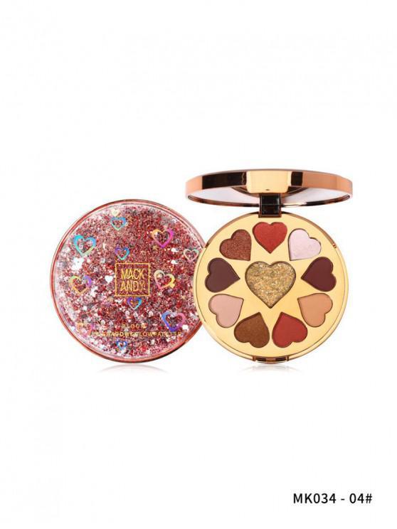 affordable Glitter Highlight Heart Eyeshadow Palette - MULTI-D