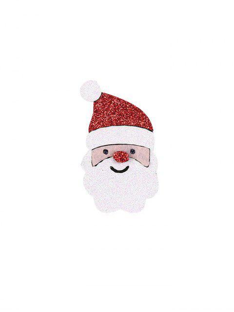 Broche Père Noël à Paillettes - Rouge  Mobile