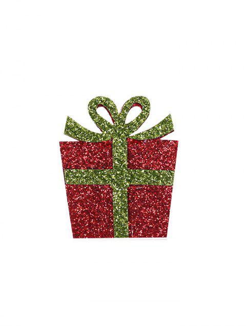 Broche de Noël Boîte à Cadeau à Paillettes - Rouge  Mobile