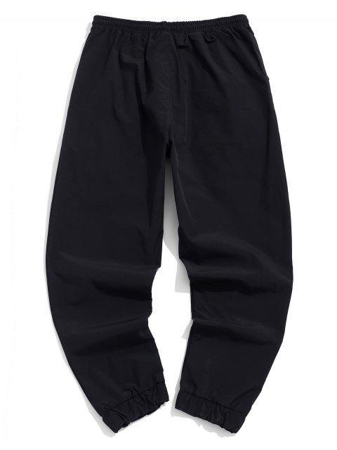 Decorado bolsillo de los pantalones elásticos de la cintura del basculador - Negro 2XL Mobile