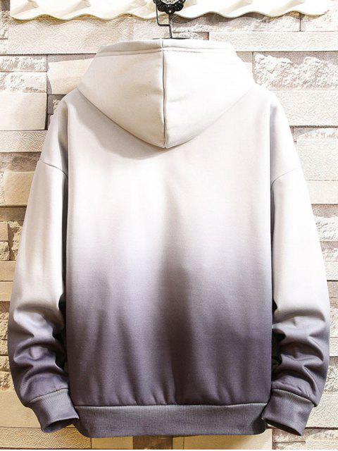 Ombre impresos tinte del lazo con capucha informal - Gris XL Mobile