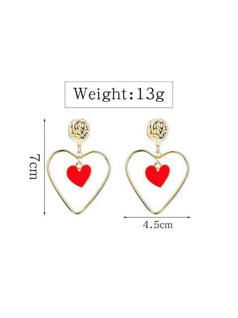Форма сердца Ажурные Серьги С подвеской - Золотой  Mobile