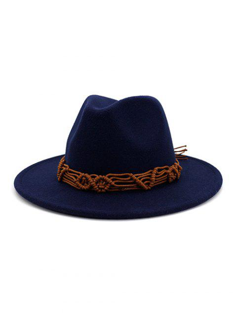 outfits Crochet Rope Ethnic Solid Fedoras - CADETBLUE  Mobile