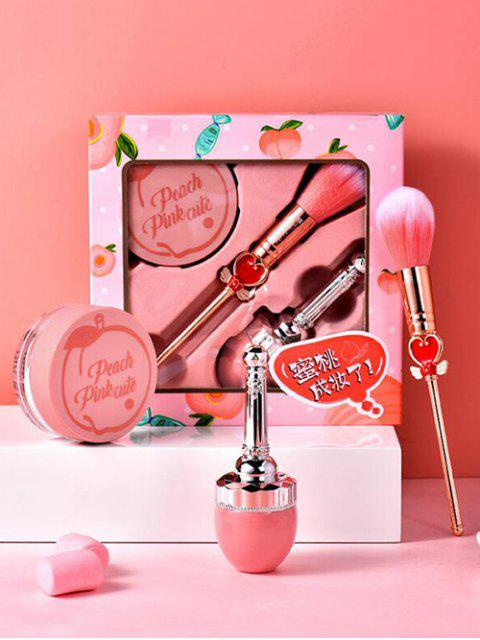 online Blusher Makeup Brush Loose Powder Makeup Tool Set - PINK  Mobile