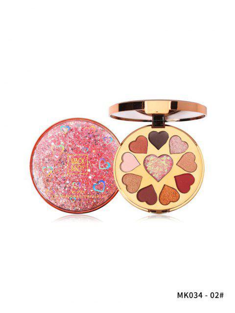 trendy Glitter Highlight Heart Eyeshadow Palette - MULTI-B  Mobile