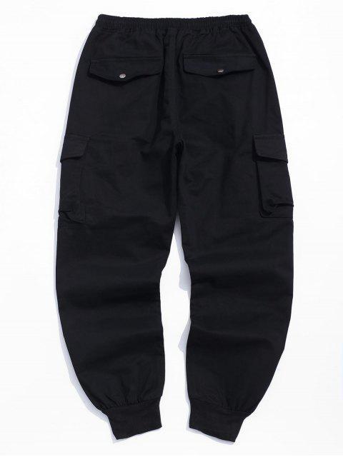 Multi-bolsillo Diseño Pantalones Casual basculador - Negro XL Mobile