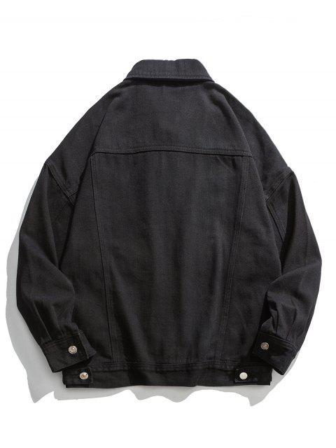 Sólido hombro Pérdida de color de la chaqueta de Carga - Negro 2XL Mobile