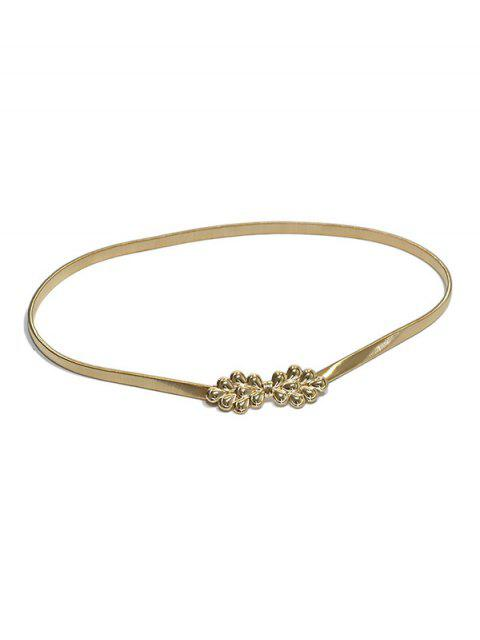 ladies Peacock Tail Metal Spring Waist Chain - GOLD  Mobile