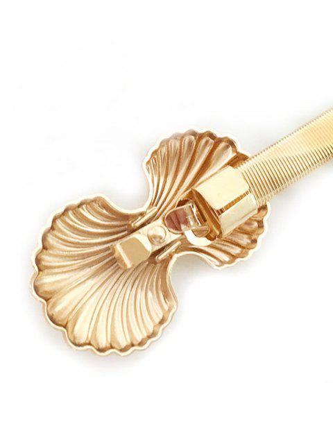 Форма раковины Металл Пружина Для платья Пояс - Золотой  Mobile