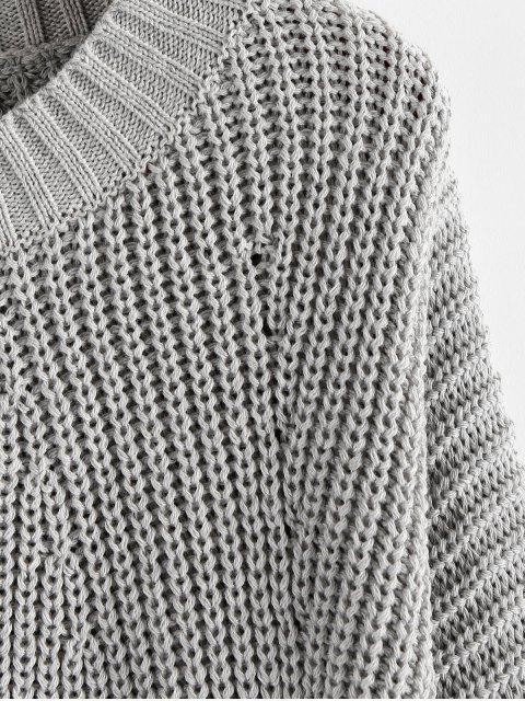 ZAFULランタンスリーブチャンキーセーター - グレーグース S Mobile