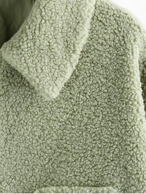 ZAFUL Tropfen Schulter Tasche mit Reißverschluss Teddy Mantel - Hellgrün M Mobile