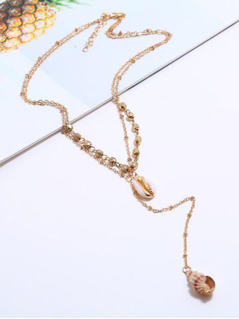 Многослойное Ожерелье С подвеской Раковина - Золотой  Mobile