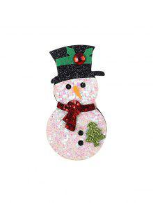 عيد الميلاد الترتر ثلج بروش - أبيض