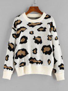 ZAFUL Leopard Print Sweater