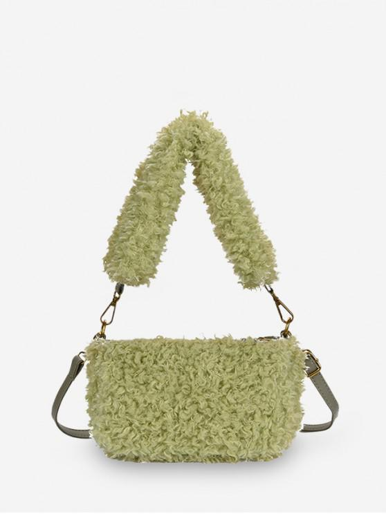 sale Winter Suede Solid Soft Single Shoulder Bag - SALAD GREEN