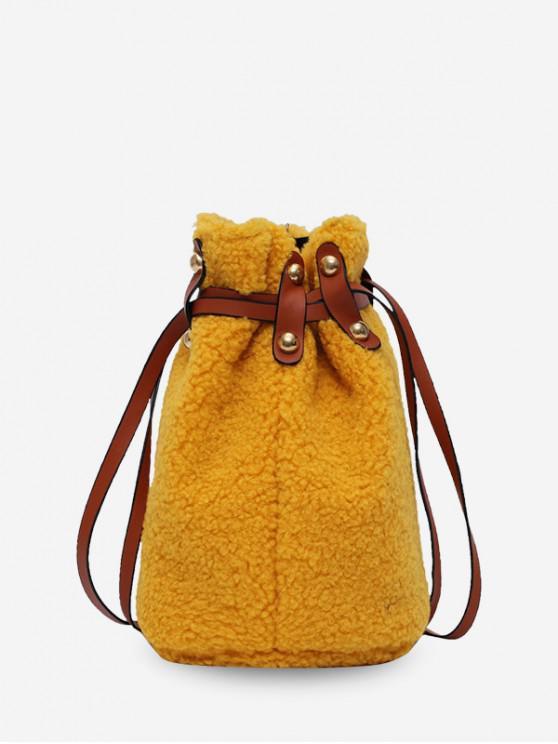 new Suede Bucket Shoulder Bag - BEE YELLOW