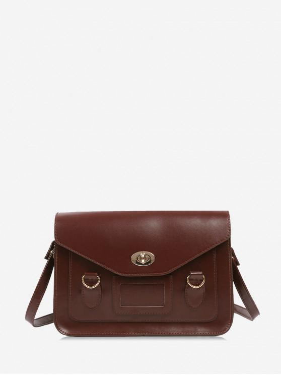 latest British Style Messenger Shoulder Bag - BROWN
