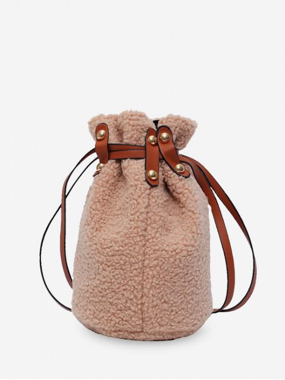 online Suede Bucket Shoulder Bag - CAMEL BROWN