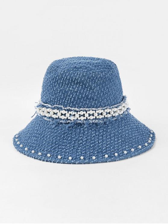 Chapeau Perlé en Jean - Bleu profond
