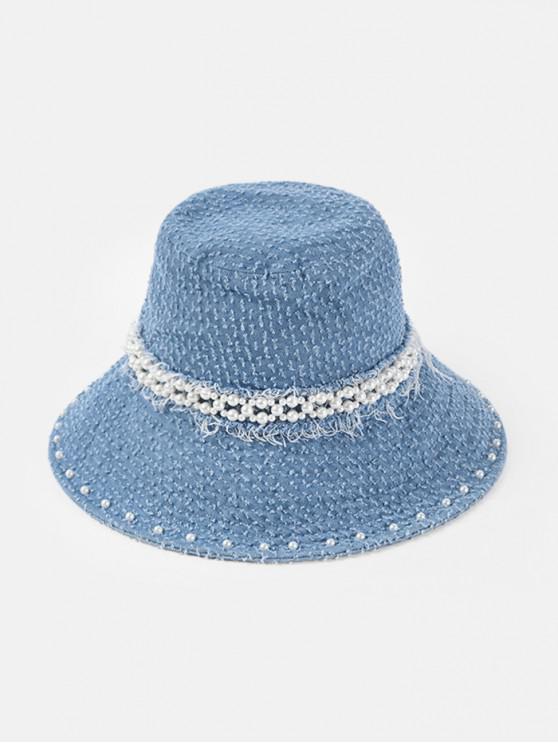 best Pearls Floppy Jeans Hat - LIGHT BLUE
