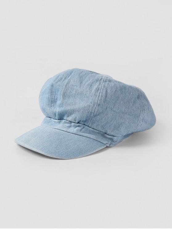 buy Peaked Octagonal Jeans Hat - LIGHT BLUE