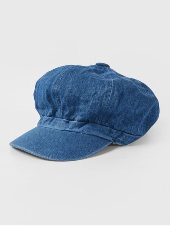 best Peaked Octagonal Jeans Hat - DEEP BLUE
