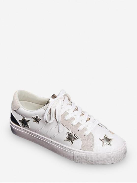 best Star Applique Low Top Casual Shoes - GOLD EU 40