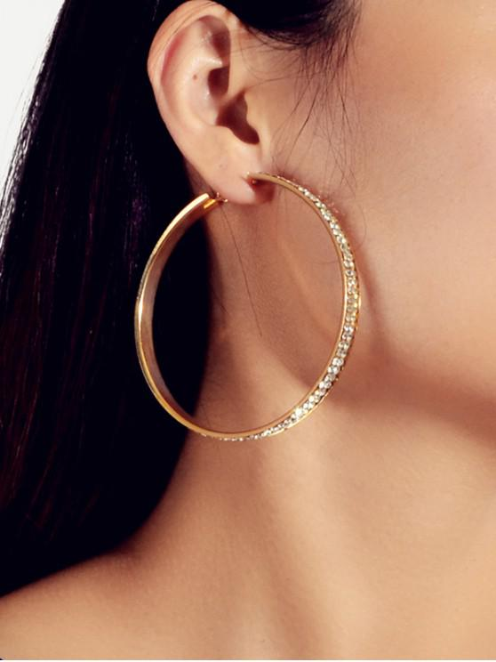 hot Brief Rhinestone Hoop Earrings - GOLD
