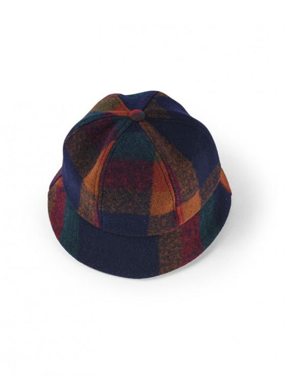 منقوشة نمط فيلت قبعة دلو - أخضر غامق