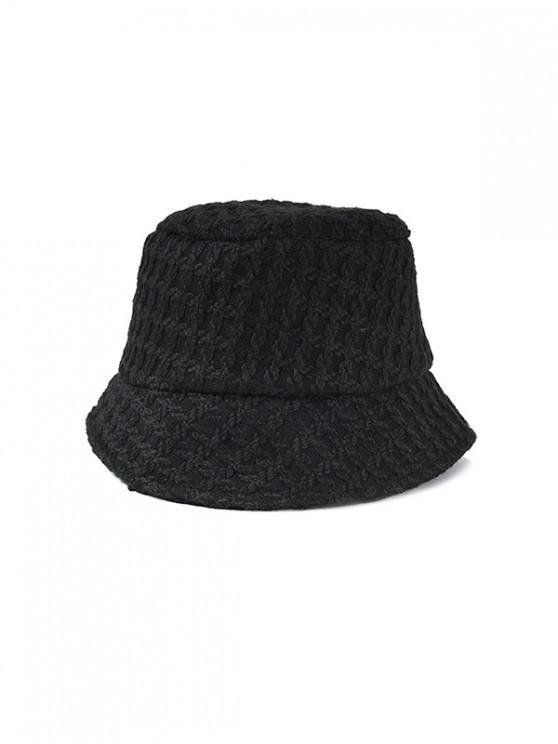 Chapeau Seau Tressé - Noir