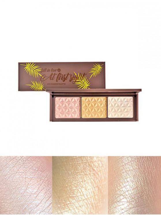 womens 3 Colors Glitter Highlight Eyeshadow Palette - MULTI-B