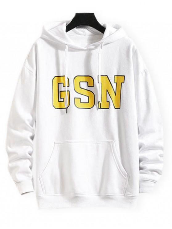 buy GSN Printed Hoodie - WHITE XL