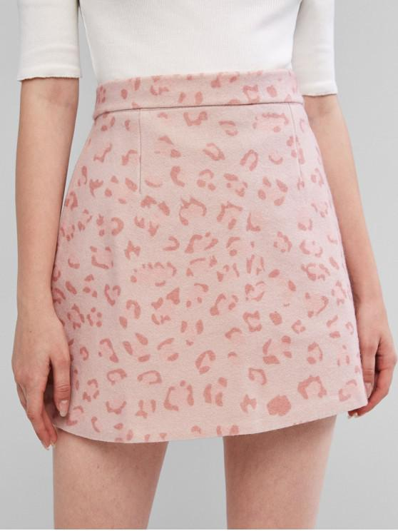 shops Leopard Wool Blend Skirt - PINK L