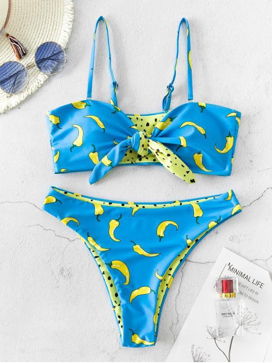 ZAFUL عكسية ليوبارد طباعة تشيلي تعادل كامي بيكيني ملابس السباحة - متعددة-A L