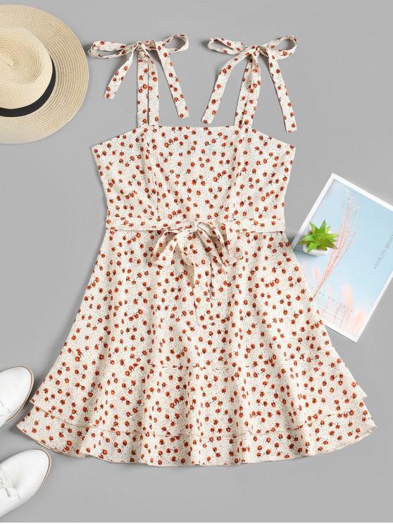 ZAFUL imprimate Cami Ciufulit Mini Dress - alb M