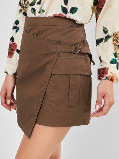 ZAFUL D-ring Foldover Skirt - Oak Brown M