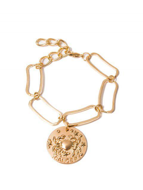 sale Crab Pattern Round Drop Metal Bracelet - GOLD  Mobile
