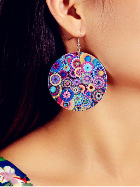 Богемный стиль Цветочный принт Серьги-обруч - ACU Камуфляжный  Mobile